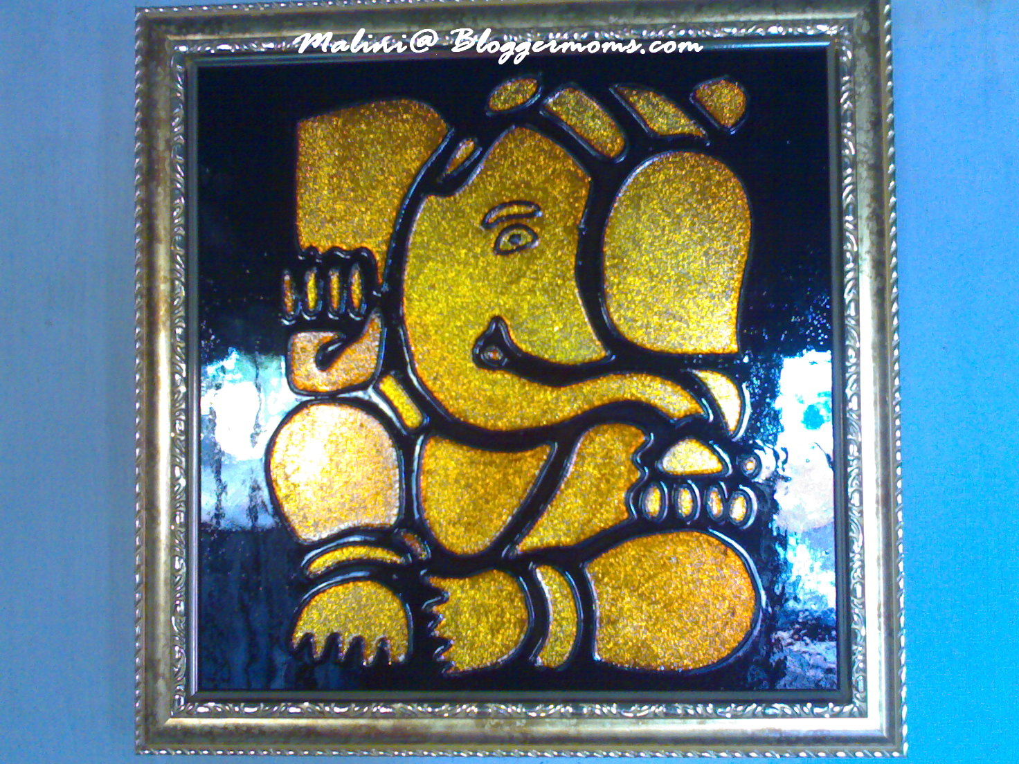 Painting Ganesha Pictures Of For Glass Image